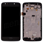 LCD Screen Display with Digitizer Touch Panel and Bezel Frame,Home Button for Motorola Moto E4 XT1768 - Black