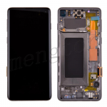 LCD Screen Display with Digitizer Touch Panel and Bezel Frame for Samsung Galaxy S10 G973(Black Frame) - Black