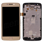 LCD Screen Display with Digitizer Touch Panel and Bezel Frame,Home Button for Motorola Moto E4 XT1768 - Gold