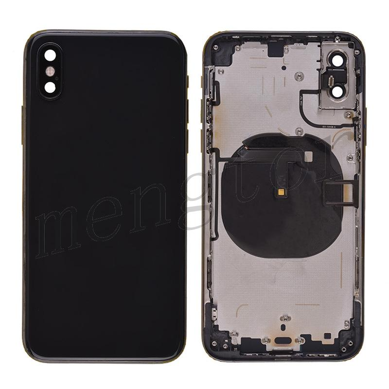Back Housing with Small Parts Pre-installed for iPhone XS(for APPLE)(High Quality) - Black