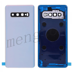 Back Cover Battery Door with Camera Glass Lens and Cover for Samsung Galaxy S10 G973(for SAMSUNG) - Prism White