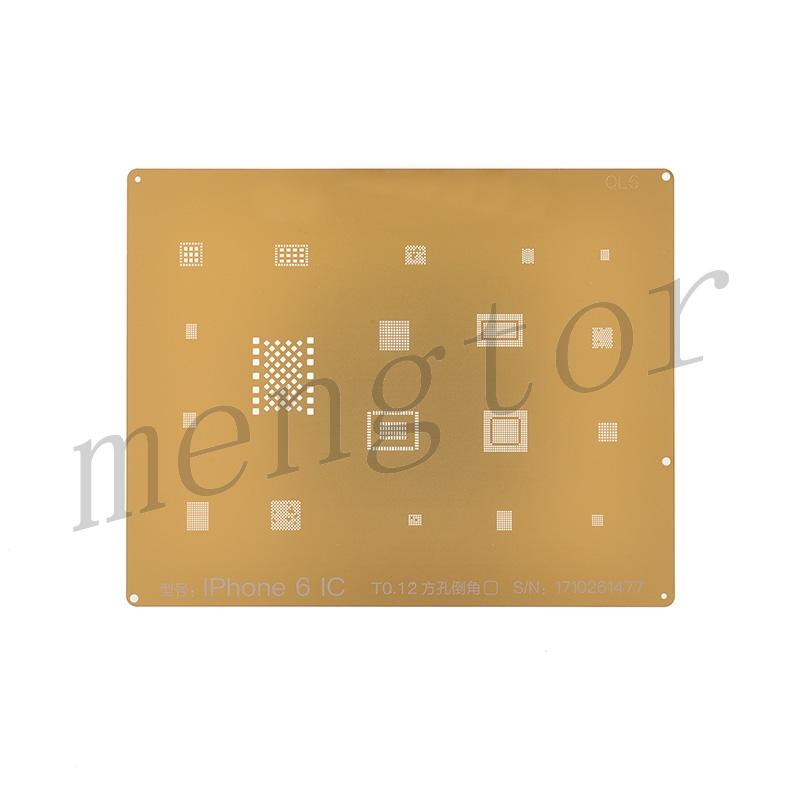 QianLi 3D IC Chip BGA Repair Reballing Gold Stencil Kit for iPhone 6/ 6 Plus