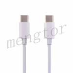 3ft Type-C to Type-C Fast Charging Data Cable for iPad Pro 11 (2018)/ Pro 11 (2020)/ Pro 12.9 (3rd Gen)/ Pro 12.9 (4th Gen)/ MacBook/ Samsung/ Google/ LG (Generic) - White