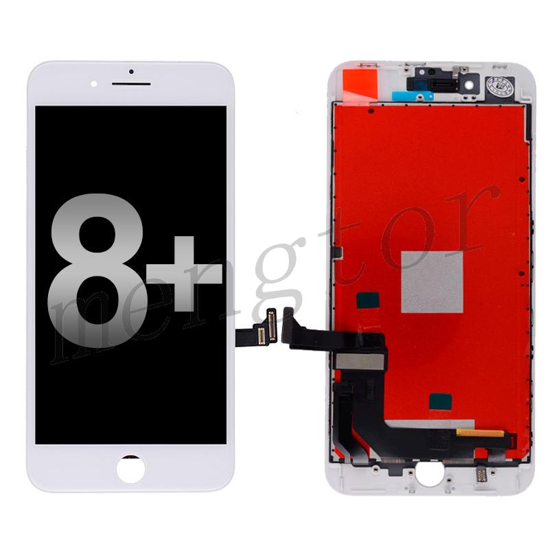 LCD Screen Display with Touch Digitizer Panel and Frame for iPhone 8 Plus (5.5 inches)(Generic) - White