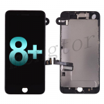 LCD Screen Display with Touch Digitizer Panel and Frame,Front Camera,Earpiece Speaker & Proximity Sensor Flex Cable for iPhone 8 Plus (5.5 inches) (Generic Plus) - Black