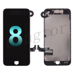 LCD Screen Display with Touch Digitizer Panel and Frame,Front Camera,Earpiece Speaker & Proximity Sensor Flex Cable for iPhone 8(4.7 inches) (Generic Plus) - Black