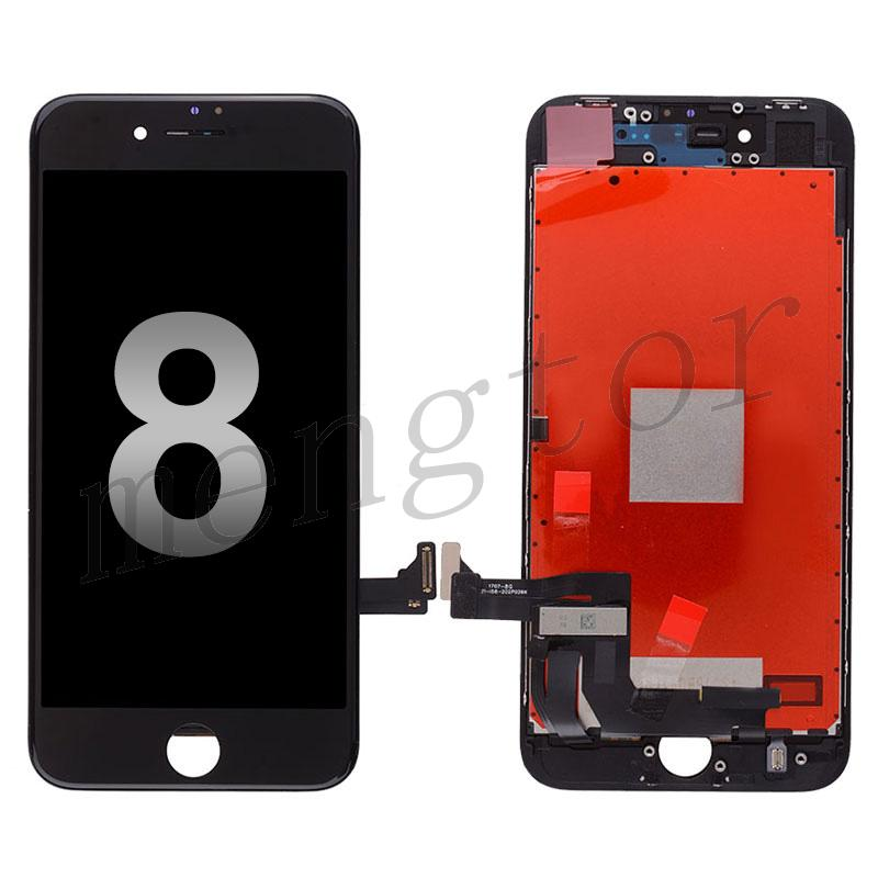 LCD Screen Display with Touch Digitizer Panel and Frame for iPhone 8 (4.7 inches)(Generic) - Black