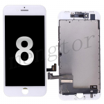 LCD Screen Display with Touch Digitizer Panel and Frame for iPhone 8 (4.7 inches)(High Quality) - White