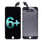 LCD Screen Display with Touch Digitizer, Frame and Front Camera for iPhone 6 Plus (5.5 inches)(Generic Plus) - Black