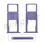 Single Sim Card Tray and MicroSD Card Tray for Motorola Moto G7 Power XT1955 - Purple