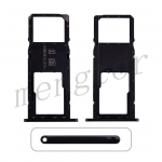 Single Sim Card Tray and MicroSD Card Tray for Motorola Moto G7 Power XT1955 - Black