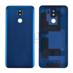 Back Cover Battery Door with Camera Glass Lens and Cover for LG K40 LMX420/ K12 Plus/ X4(2019) - Blue