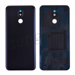 Back Cover with Camera Glass Lens and Adhesive Tape for LG K40 LMX420/ K12 Plus/ X4(2019) - Black