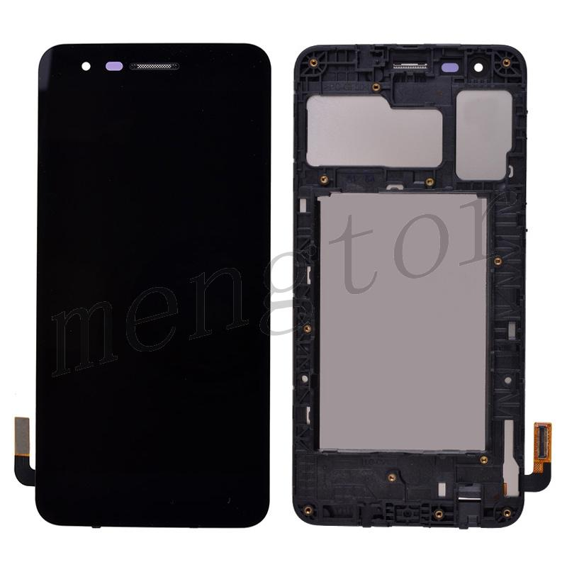 LCD Screen Display with Digitizer Touch Panel and Bezel Frame for LG Aristo 3 LM-220MA - Black