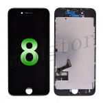 LCD Screen Display with Touch Digitizer Panel and Frame for iPhone 8 (4.7 inches)(Incell) - Black