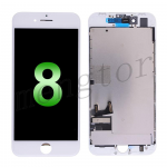 LCD Screen Display with Touch Digitizer Panel and Frame for iPhone 8 (4.7 inches)(Incell) - White