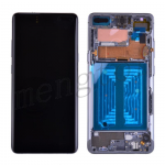 LCD Screen Display with Digitizer Touch Panel and Bezel Frame for Samsung Galaxy S10 5G G977(Black Frame) - Black