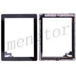 Touch Screen Digitizer with Home Button and Home Button Flex Cable for iPad 2  (Super High Quality)  - Black