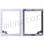 Touch Screen Digitizer with Home Button and Home Button Flex Cable for iPad 2  (Super High Quality)  - White