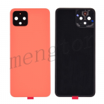 Back Cover Battery Door with Camera Glass Lens and Cover for Google Pixel 4 - Orange