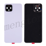 Back Cover Battery Door with Camera Glass Lens and Cover for Google Pixel 4 - White