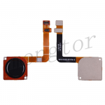 Home Button with Flex Cable,Connector and Fingerprint Scanner Sensor for Motorola Moto G7 XT1962 - Black