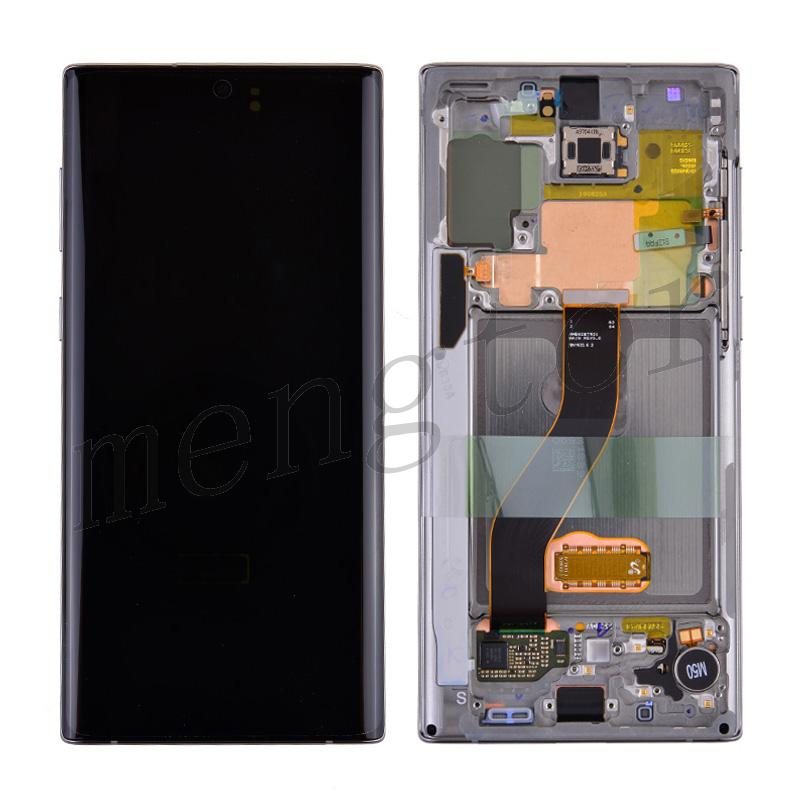 LCD Screen Display with Digitizer Touch Panel and Frame for Samsung Galaxy Note 10 N970 - Aura Glow