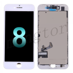 LCD Screen Display with Touch Digitizer Panel and Frame for iPhone 8 (4.7 inches)(Generic Plus) - White