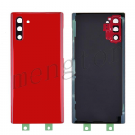 Back Cover Battery Door with Camera Glass Lens and Cover for Samsung Galaxy Note 10 N970 - Red