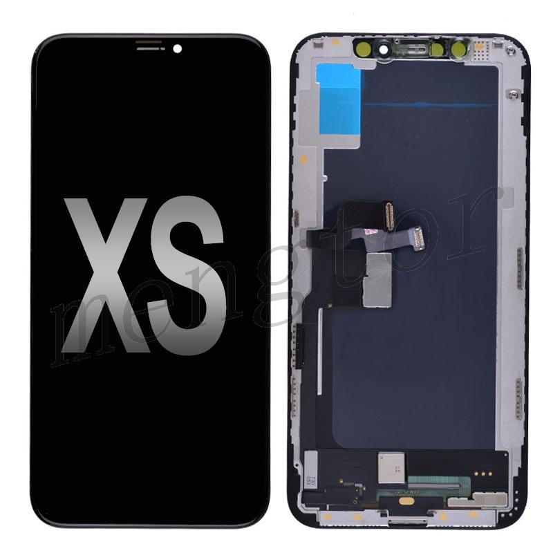 LCD Screen Display with Touch Digitizer Panel and Frame for iPhone XS(Generic) - Black