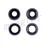 Rear Camera Glass Lens and Cover Bezel Ring for iPhone 11(2 Pcs/set) - Purple