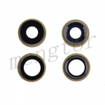 Rear Camera Glass Lens and Cover Bezel Ring for iPhone 11(2 Pcs/set) - Yellow
