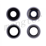 Rear Camera Glass Lens and Cover Bezel Ring for iPhone 11(2 Pcs/set) - Silver