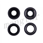 Rear Camera Glass Lens and Cover Bezel Ring for iPhone 11(2 Pcs/set) - Black