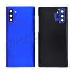 Back Cover Battery Door with Camera Glass Lens and Cover for Samsung Galaxy Note 10 N970 - Blue