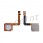 Home Button with Flex Cable,Connector and Fingerprint Scanner Sensor for Motorola Moto G7 XT1962 - White