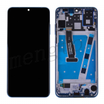 LCD Screen Display with Touch Digitizer Panel and Frame for Huawei P30 Lite(Blue Frame) - Black