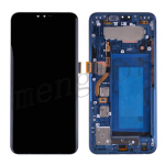 LCD Screen Display with Digitizer Touch Panel and Frame for LG V40 ThinQ V405(Blue Frame)(for America Version) - Black