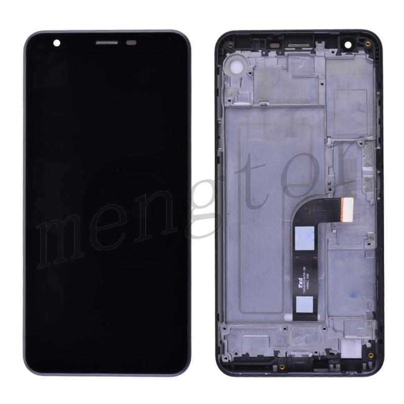 LCD Screen Display with Digitizer Touch Panel and Bezel Frame for LG K30 2019 X320(Black Frame) - Black