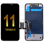 LCD Screen Display with Touch Digitizer Panel and Frame for iPhone 11(6.1 inches)(Super High Quality) - Black(Version 2)