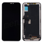 Hard OLED Screen Display with Touch Digitizer Panel and Frame for iPhone X (HX) - Black