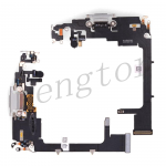 Charging Port with Flex Cable for iPhone 11 Pro (5.8 inches)(Super High Quality) - Silver