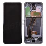 LCD Screen Display with Digitizer Touch Panel and Bezel Frame for Samsung Galaxy S20 G980 - Cosmic Gray