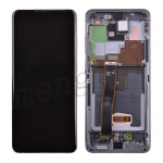 LCD Screen Display with Digitizer Touch Panel and Bezel Frame for Samsung Galaxy S20 Ultra G988 - Cosmic Gray