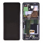 LCD Screen Display with Digitizer Touch Panel and Bezel Frame for Samsung Galaxy S20 Ultra G988 - Cosmic Black