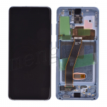 LCD Screen Display with Digitizer Touch Panel and Bezel Frame for Samsung Galaxy S20 G980 - Cloud Blue