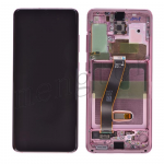 LCD Screen Display with Digitizer Touch Panel and Bezel Frame for Samsung Galaxy S20 G980 - Cloud Pink