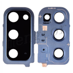 Rear Camera Glass Lens and Cover Bezel Ring for Samsung Galaxy S20 G980 - Blue