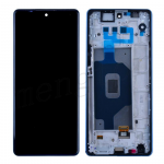 LCD Screen Display with Digitizer Touch Panel and Bezel Frame for LG Stylo 6 Q730(Blue Frame) - Black