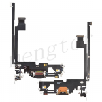 Charging Port with Flex Cable for iPhone 12 Pro Max (6.7 inches)(Super High Quality) - Black
